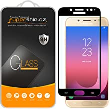 (2 Pack) Supershieldz for Samsung (Galaxy J7 Pro) J730G Tempered Glass Screen Protector, (Full Screen Coverage) Anti Scratch, Bubble Free (Black)