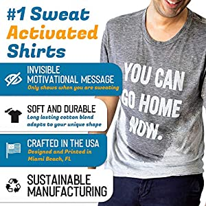 LeRage You Can Go Home Now Hidden Message Gym Shirt Funny Workout Tee Large