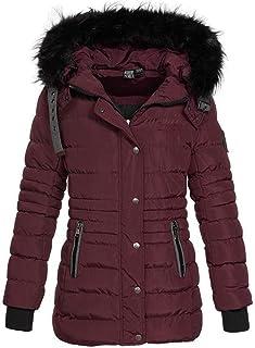 Geographical Norway Daleo - Parka de Invierno con Capucha de Piel para Mujer