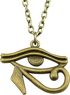 ODETOJOY Egyptian Necklace, Eye of Horus, Egyptian Pendant, Hieroglyph Charm Bridal Necklace, Birthday Gift, Lover Necklac...