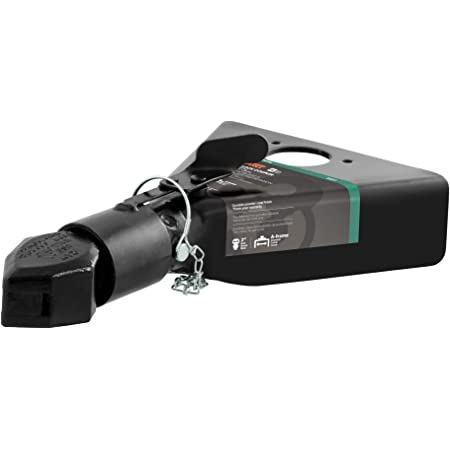 CURT 25217 Black A-Frame Trailer Coupler, 2-Inch Hitch Ball, 7,000 lbs