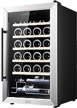 Cecotec Cave à Vin GrandSommelier 24000 Inox Compressor. Capacité pour 24 bouteilles, Rendement élevé avec Compresseur, Te...