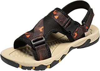 Xujw-shoes, Men Sports Outdoor Sandals Hook&Loop Strap Breathable Shoes for Men Slip On Style Cloth Material Buckle Cool Summer Comfortable Fashionable