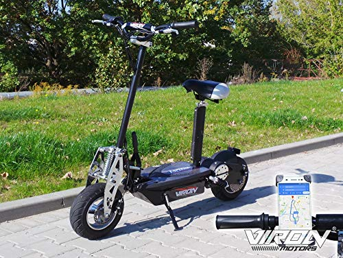 Viron E Scooter mit Sitz (abnehmbar) | Elektro Scooter Erwachsene | Elektroroller faltbar | E Roller mit 800W Motor für bis zu 32km/h | Idealer Begleiter
