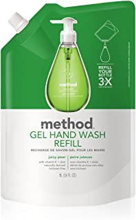 Method Gel Hand Soap Refill, Juicy Pear, 34 Ounce