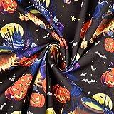 Stoffe Schulz | Baumwollstoff Popeline Halloween-Tanz,