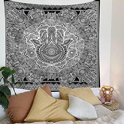 NTtie Tapices Decoración para Dormitorio o Sala de Estar, Flor geométrica sentada Manta Colgante de Pared Toalla de Playa