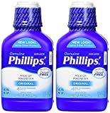 Phillips' Milk of Magnesia Liquid Laxative, 26 oz (Pack of 2) Cramp Free & Gentle Overnight Relief Of Occasional Constipation, #1 Milk of Magnesia Brand