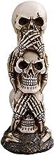 JNKET Resin Skeleton Head Realistic Human Skull Statue Halloween Skull Stacked Up Skulls Craft Ornaments