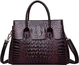 Women Satchel Handbags Top-Handle Bags fuax Leather Embossed Crocodile pattern shoulder bag