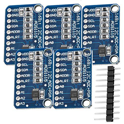 AZDelivery 5 x ADS1115 ADC Modul 16bit 4 Kanäle für Arduino und Raspberry Pi mit eBook