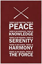 Jedi Code The Force Red Motivational Art Print Laminated Dry Erase Sign Poster 12x18