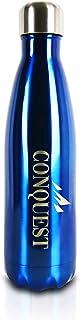 Conquest Botella de Agua de Acero Inoxidable   500 ml   Botella Térmica   Bebidas Frías Durante 24 Horas y Calientes hasta 12 Horas   Acero Inoxidable con Aislamiento de Doble Pared   Botella Libre de BPA