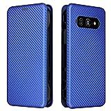 AHUOZ Klapphülle für Kyocera Torque 5G KYG01, luxuriöse Schutzhülle aus Kohlefaser PU & TPU Hybrid-Hülle, vollständiger Schutz, stoßfest, Klappschutzhülle für Kyocera Torque 5G KYG01 (Farbe: Blau)