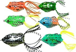 Belloc 6pcs Fishing Lures Set - Frog Snakeheads Shape Metel Fishing Bait for Bass Pike - Soft Fishing Lure Kit Topwater Baits Saltwater Freshwater Fishing