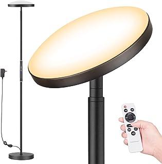 Lampadaire sur Pied Salon,Lampadaire LED Dimmable en continu, Lampadaire Télécommande, Réglage Continu de la Températures ...