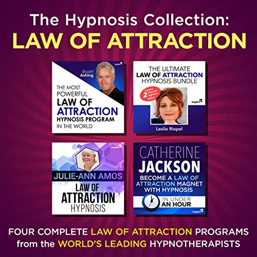 The Hypnosis Collection - Law of Attraction     Four Complete Life-Changing Hypnosis Programs for Manifesting Mastery              By:                                                                                                                                 Inspire3 Hypnosis                               Narrated by:                                                                                                                                 Inspire3 Hypnosis                      Length: 3 hrs and 40 mins     4 ratings     Overall 5.0