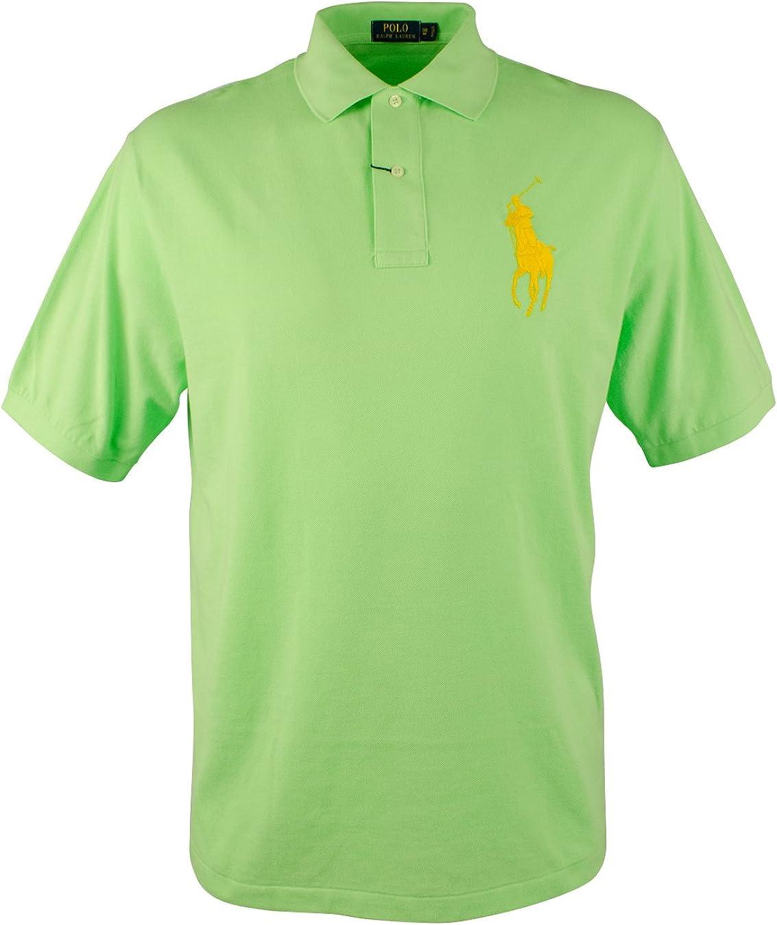 Men's Big&Tall Big Pony Short Sleeve Mesh Polo Shirts-FG-1XB