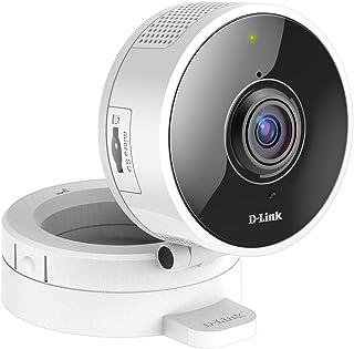 D-Link DCS-8100LH - Cámara IP WiFi con Acceso Desde móviles visión 180° grabación en la Nube y en el móvil HD 720p visión Nocturna Ranura MicroSD Compatible Amazon Alexa y Google Home