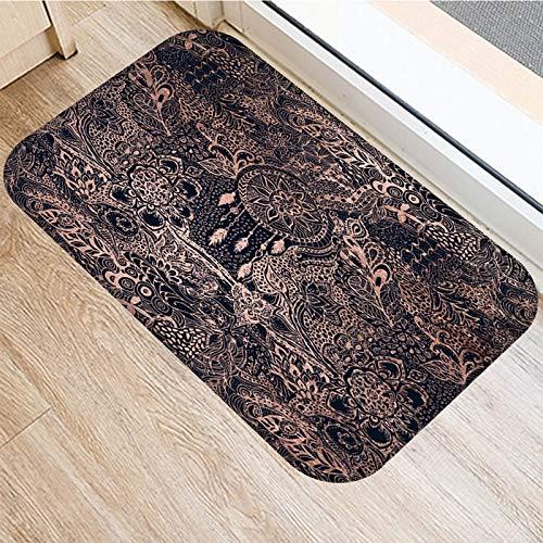HLXX Steinstreifen Marmor Muster Anti-Rutsch-Wildleder Teppich Türmatte Fußmatte Outdoor-Küche Wohnzimmer Bodenmatte Teppich A19 40x60cm