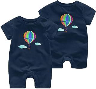 Ives Jean Baby ärmellose Bodysuits Heißluftballon Bunte Neugeborene Kurzarm Strampler Jumpsuit Baby Strampler 0-24 Monate