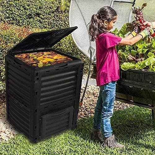 ZHANGYY Compostador de jardín de 300 l, contenedor de compostaje de Gran Capacidad de 80 galones,...