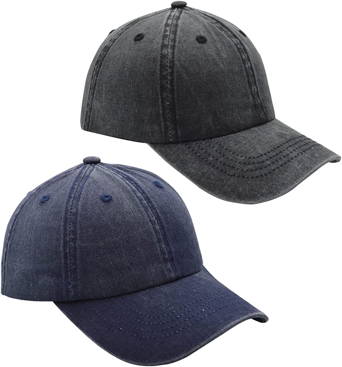FWMhat Pack of 2 Washed Distressed 100% free shipping Fort Worth Mall Cotton Baseball Hats Uni