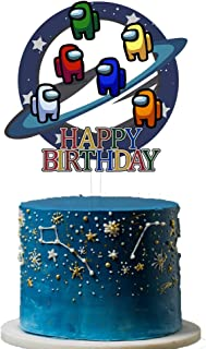 Awyjcas Among US Party Decoration,Among US Cake Topper.Boys Girls Kids Adults Party Supplies