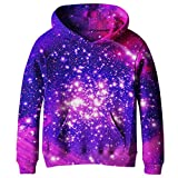 SAYM Big Girls Galaxy Fleece Pockets Sweatshirts Jacket Pullover...