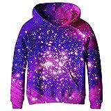SAYM Big Girls Galaxy Fleece Pockets Sweatshirts Jacket Pullover Hoodies NO1 XS
