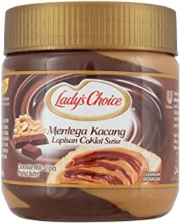 Lady's Choice Peanut Butter (628MART) (Chocolate Milk Stripes 350g, 3 Cans)
