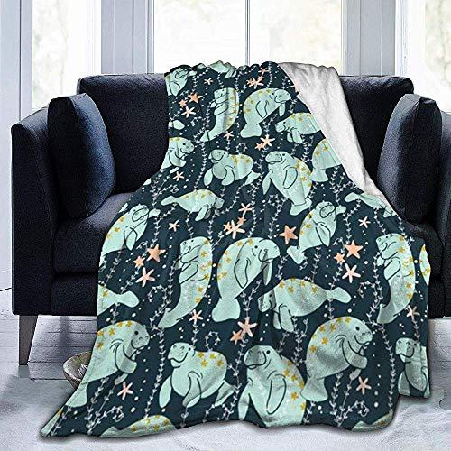 Niet geschikt flanellen deken voor bed, mintgroen, zeer zacht, luxueus, warm, voor alle seizoenen, 50 x 40 inch