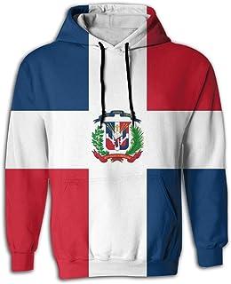 FUSALIN Dominican Republic FlagUnisex 3D Printed Sweatshirt Casual Pullover Hoodie with Big Pockets