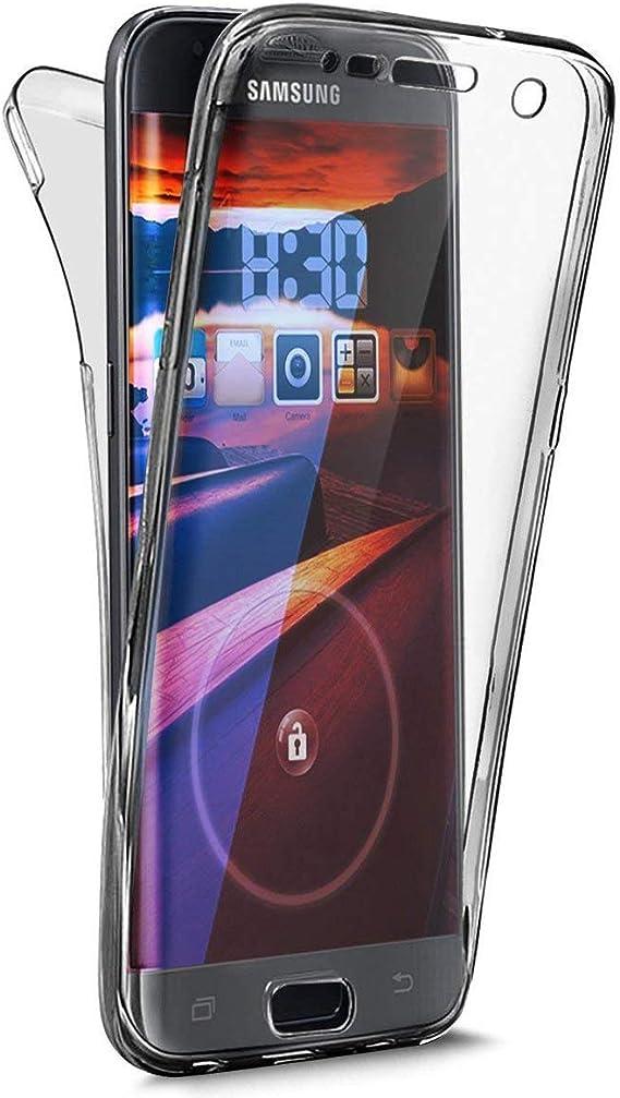 QPOLLY Compatible avec Coque Samsung Galaxy J3 2018 Transparente ...