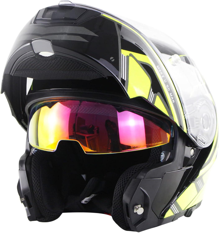 TKTTBD Bluetooth Modular Max 60% OFF Motorcycle Helmet Up Motorbike Hel Flip Excellence