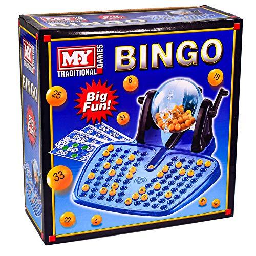 M.Y Traditional Bingo Game - Complete with Bingo Balls, Dispenser and Bingo Cards