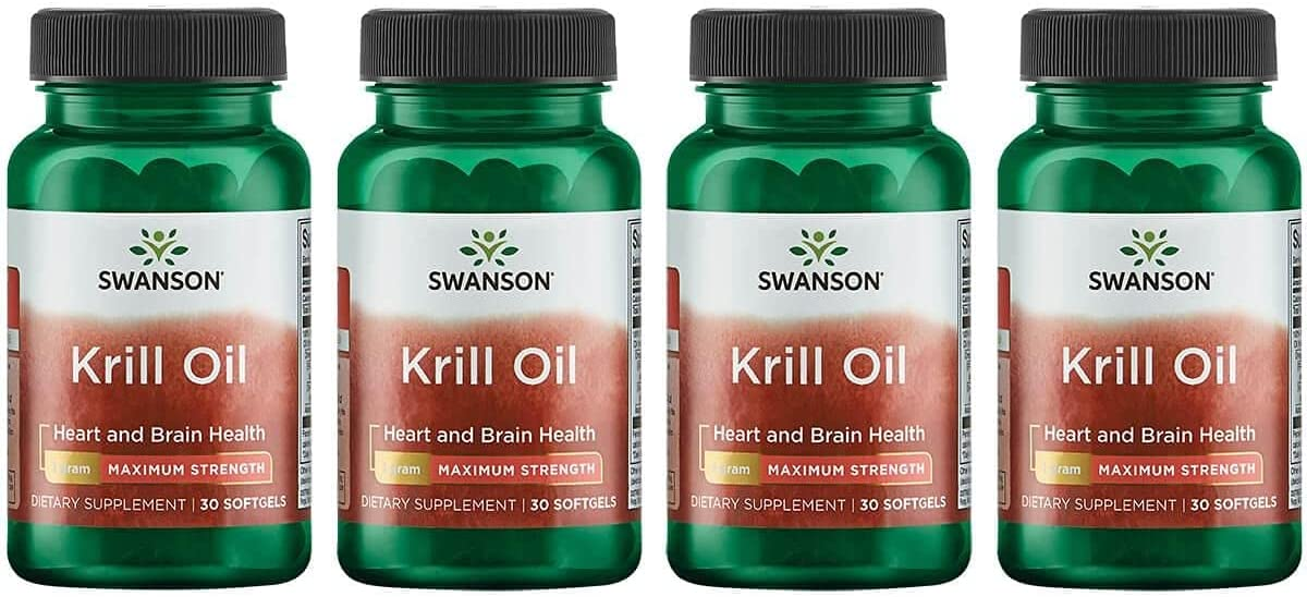 67% OFF of fixed price Swanson Krill Oil - Maximum Strength 4 30 Sgels 1 Pack Max 71% OFF g