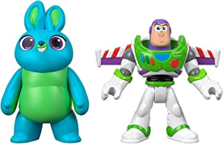 Disney Pixar GBG91 Toy Story 4 Imaginext Buzz Lightyear and Bunny Figure Pack, Multicolour