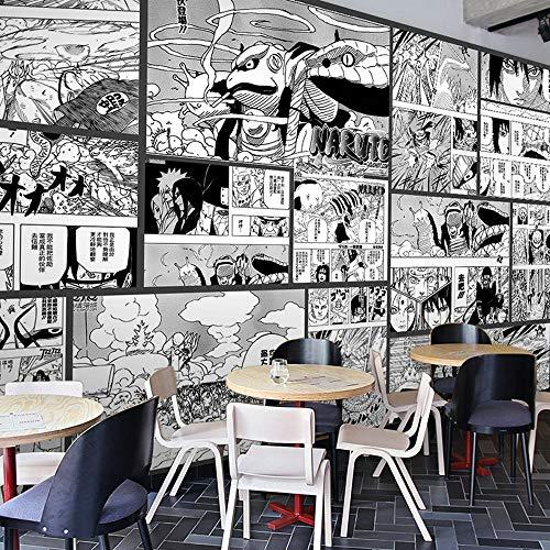 Naruto Comic Anime Benutzerdefinierte Fototapete Wandbild Wallpaper Mural Wand Tapete Wandkunst Raumdekor Schlafzimmer 3D Schwarz Weiß Japanische Anime 400Cmx280Cm
