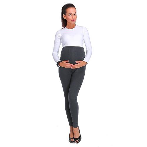 86ba0433fcdf6 hi!mom Women's Thick Fashionable Maternity Leggings Soft Fleece Lined