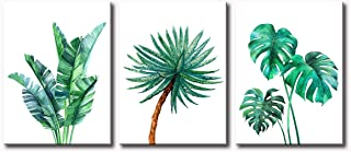 JiazuGo - Banana Leaf Botanical Wall Art Simple Green Palm Tropical Leaves Monstera Minimalist Decor 12