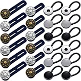 24 Pieces Expander Button Set, Include 12 Pieces Pants Waist Silicone Extender Button 12 Pieces Metal Collar Extenders Neck Extender Button for Women Men Jeans Skirts Trousers Collars Supplies