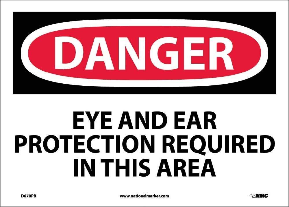 National Marker Danger, Eye and Ear Protection (D670PB)