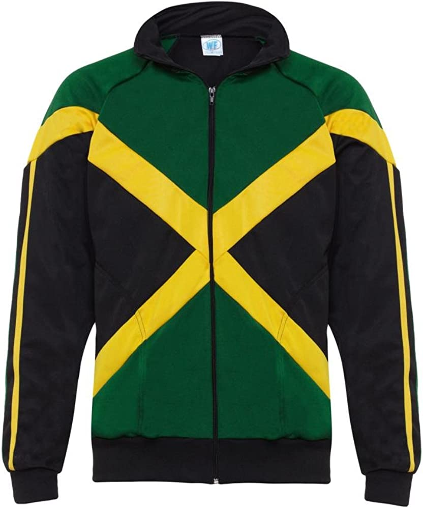 Authentic Jamaican Long Sleeved Children's Zip-Up Jacket - Unisex (Black, Green and Yellow)