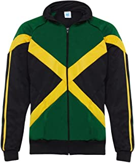 Authentic Jamaican Long Sleeved Reggae Zip-Up Jacket - Unisex (Black, Green and Yellow)