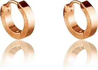 Victoria Walls Women's Stainless Steel 316L Hoop Earrings - VE1048G