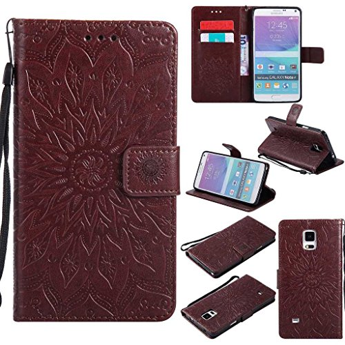 KKEIKO Galaxy Note 4 Case, Galaxy Note 4 Flip Leather Case, Shockproof...