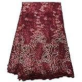 Unbekannt Spitzengewebe Kleid besticktem Tüll Stoff Pink