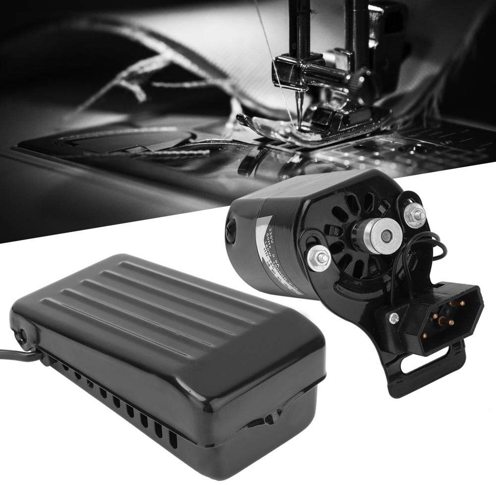 180W Máquina de Coser Motor Pedal de Coser Variable Controlador de Velocidad Máquina de Coser Interruptor de pie Piezas Accesorios para la máquina de Coser con máquina de Coser Pedal de pie(220v):