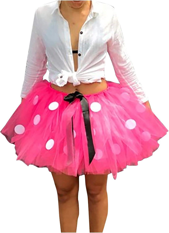 Led Tutu Skirts for Women Adult Color Mesh Tulle Skirt Princess Elastic Skirt Red